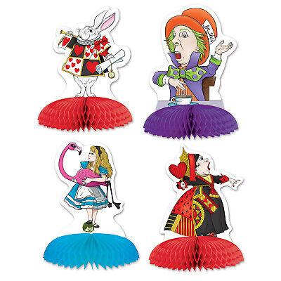 4 piece set Alice in Wonderland MINI Centerpieces Party Decorations](Alice In Wonderland Party Decorations)