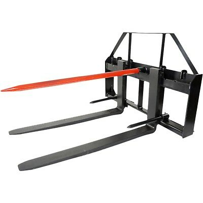 Titan 42 Skid Steer Pallet Fork Attachment W49 Bale Spear 2 Stabilizers
