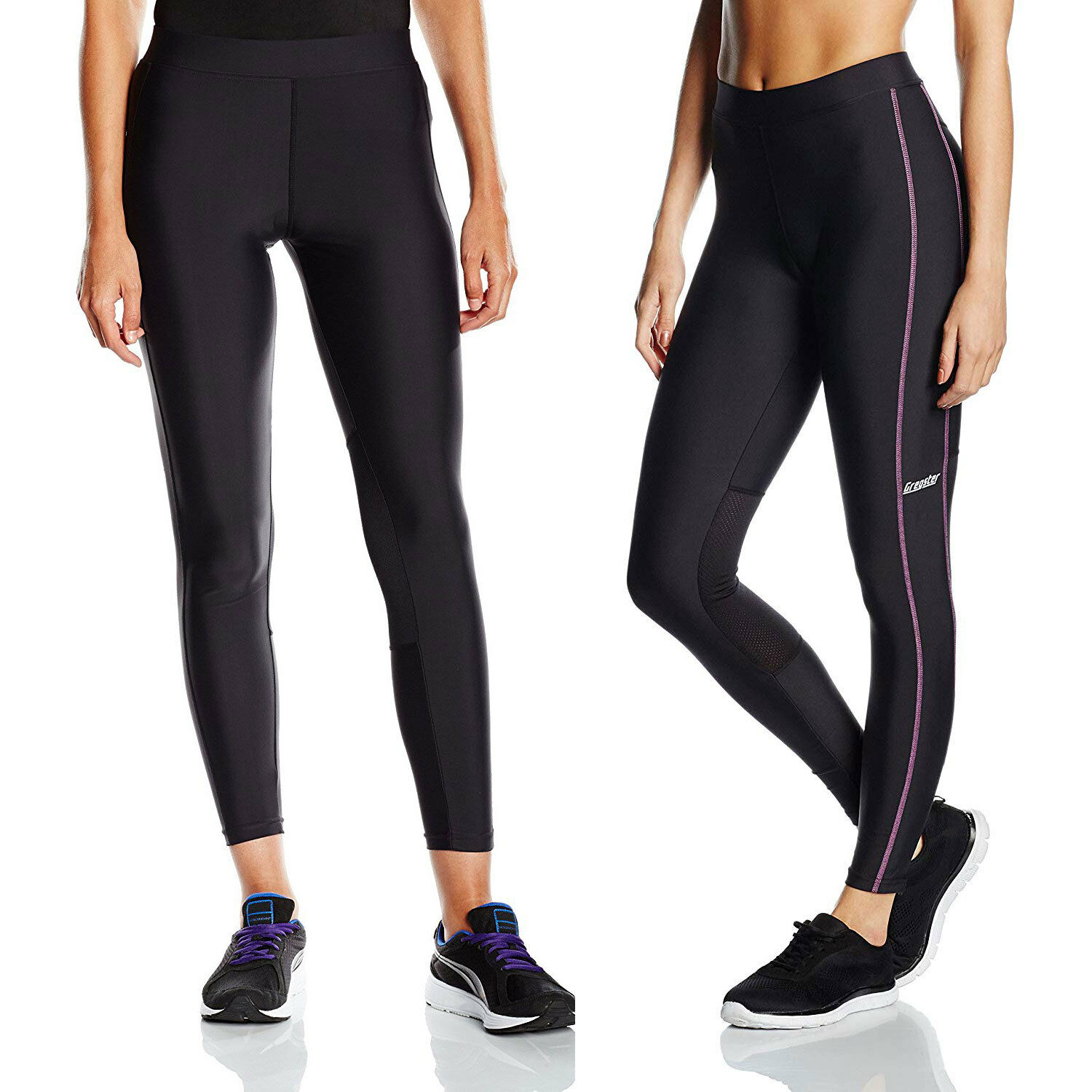 2d6e4d9b8709ef Gregster Laufhose Damen Sporthose Lang Jogginghose Kompression Tights  Training