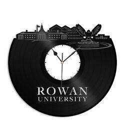 Rowan University Vinyl Wall Clock Skyline Souvenir Gif Exclusive Room Decoration