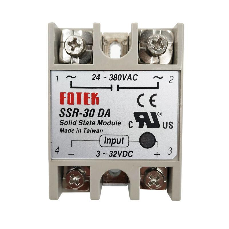 FOTEK Solid State Relay SSR-30DA Input 24-480V AC Output 3-32V DC Original