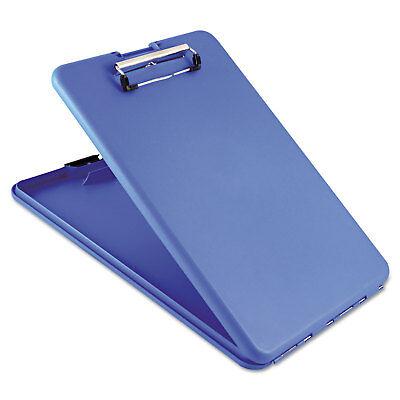 Saunders Slimmate Storage Clipboard 12 Clip Cap 8 12 X 11 Sheets Blue 00559