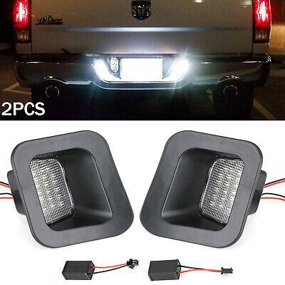 For 2003-18 Dodge Ram 1500 2500 3500 License Plate Rear Bumper Lights LED Lamps
