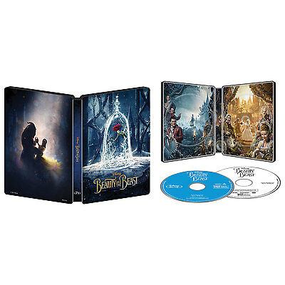 Beauty and the Beast Collectible Steelbook - Live Action [Blu-ray DVD, Best