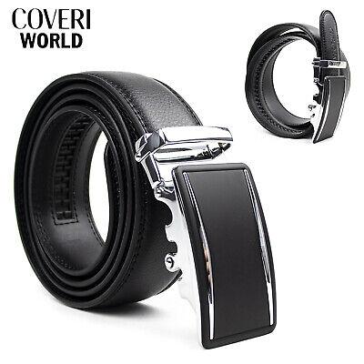 Cintura da Uomo COVERI Cinta in eco Pelle Elegante Cerimonia Nera 110 120 130 cm