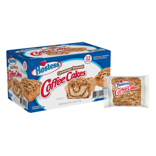 Pack of 2 Hostess Cinnamon Streusel Coffee Cake (1.44oz / 32pk)