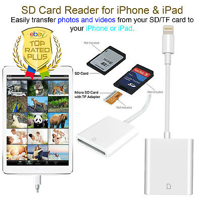 Brand NEW Camera Card Viewer SD Card Reader Adapter for iPho