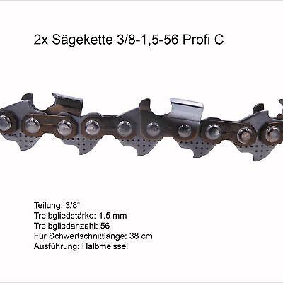 3 Stück Profi C Sägeketten 3/8 1.5 mm 56 TG Ersatzkette für Stihl Dolmar