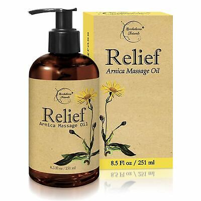 Relief Arnica Massage Oil,Great for Sports & Athletic Therapeutic Massage- 8.5oz