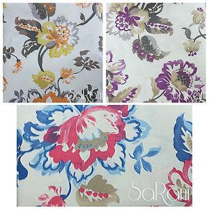 Telo arredo gran foulard copriletto divano tavola floreale astratto cotone ebay - Gran foulard divano ...