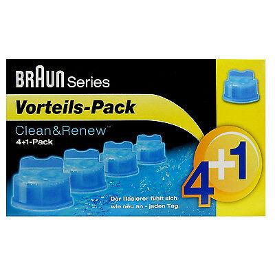 Braun Reinigungskartuschen CCR 4+1 Clean&Renew Lemonfresh Vorteilspack Series 9