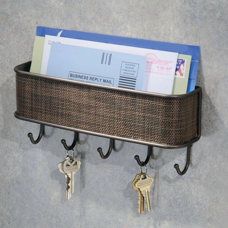 Key Holder Mail Rack Wall Mounted Entryway Shelve Hanger Letter Sorter Organizer