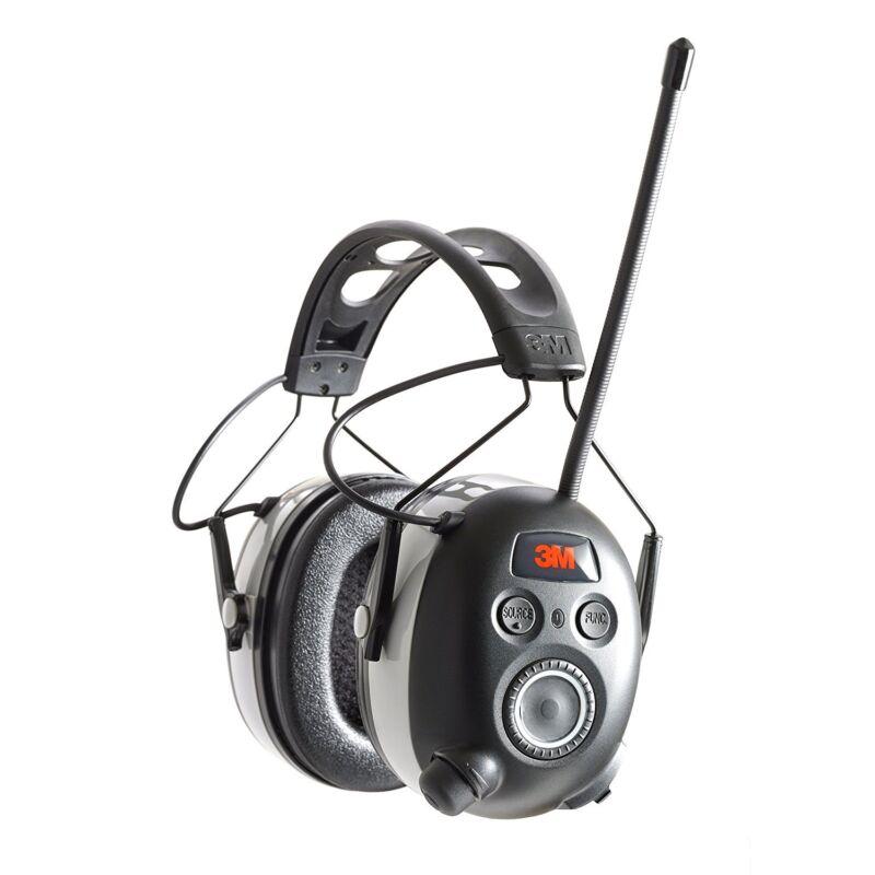 3M 90542-3DC WorkTunes Black Wireless Hearing Protector Bluetooth & AM/FM Radio