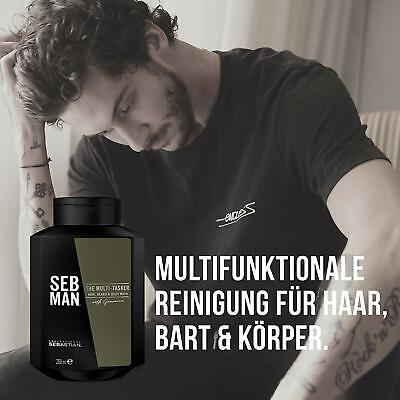 Seb Man The Multitasker - Shampoo 250 ml 3 in 1 Haar, Bart und Körper Body Wash (Haar-shampoo Sebastian)