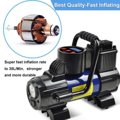 Heavy Duty 12V Portable 150PSI Car Tyre Auto Tire Inflator Pump Air Compressor