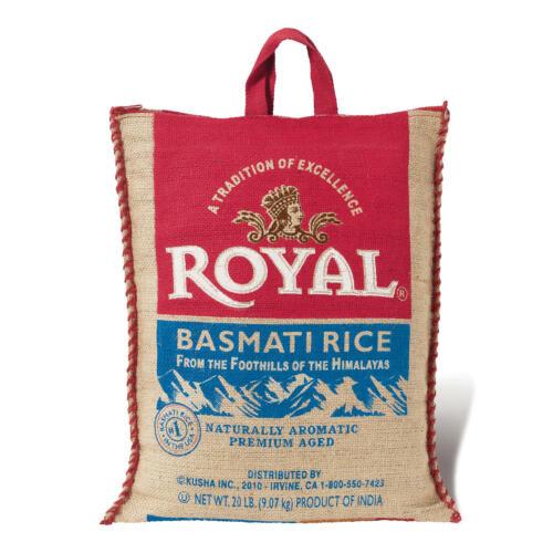 ROYAL BASMATI RICE 20LBS LONG LIFE SHELF FREE SHIPPING