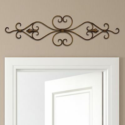 Metall Home Decor (Stratton Home Decor Blättern Metall Wand Dekoration 36x10 Neu)