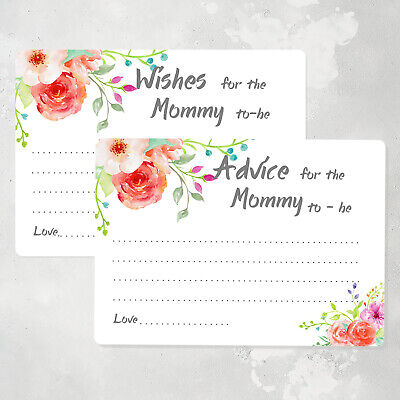 50 Advice Cards for the Mommy to be, Baby Shower Game Cards, Wish - Baby Advice Cards