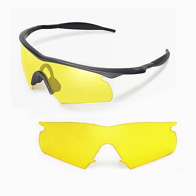 Neu Walleva Ersatz Gelb für Oakley Neu M Rahmen Hybrid Sonnenbrille
