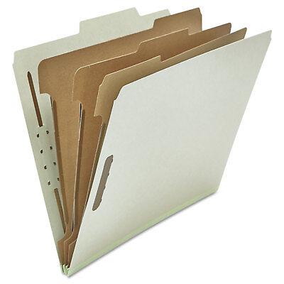 Universal Pressboard Classification Folder Letter Eight-section Gray 10box