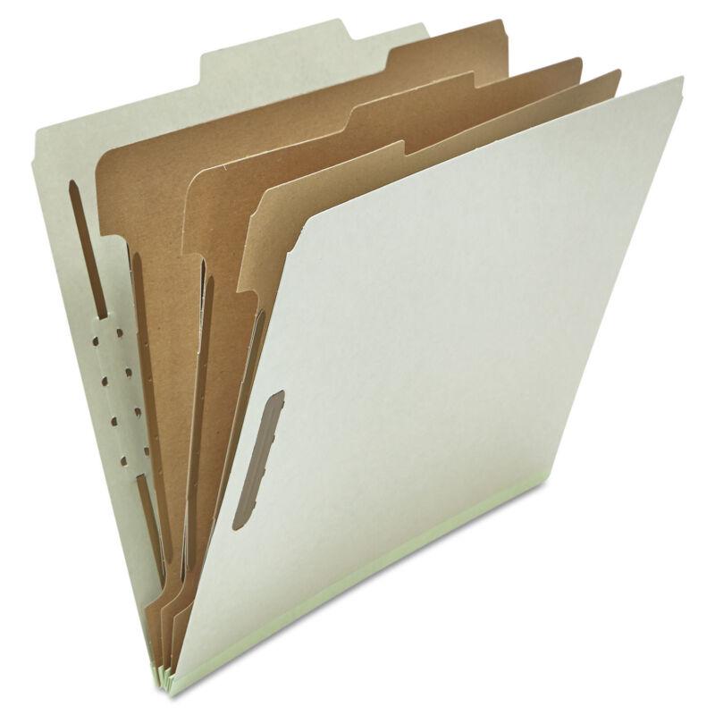 UNIVERSAL Pressboard Classification Folder Letter Eight-Section Gray 10/Box