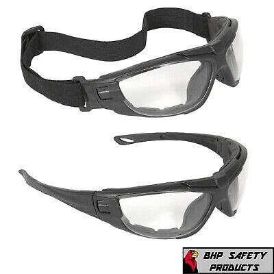 Radians Cuatro 4-in-1 Clearanti Fog Safety Glasses Hybrid Goggles Foam Padded