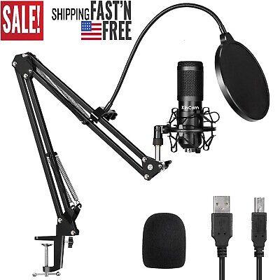 USB Streaming Podcast Microphone, KinCam 192KHZ/24Bit,youtube channel best