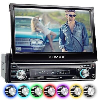 AUTORADIO MIT 18cm HD TOUCHSCREEN VIDEO BILDSCHIRM BLUETOOTH USB SD MP3 AUX 1DIN online kaufen