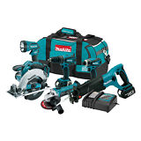 Makita LXT601 18v LXT Lithium-Ion 6 Piece Combo Full Kit BRAND NEW
