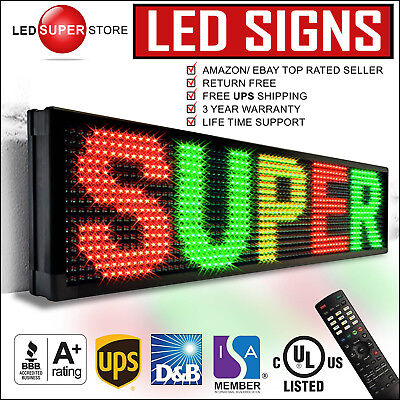 Led Super Store 3colrgyir 22x60 Programmable Scrolling Emc Display Msg Sign