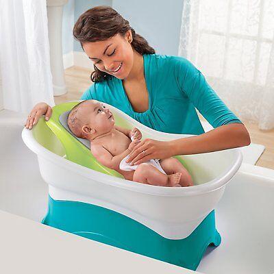 Raised Bath Center Large Tub Safe Newborn Support Bathing Convertible Set NEW