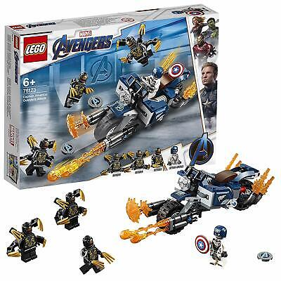 LEGO Captain America ✓ Marvel Avengers Endgame Super Hero Outriders Attack 76123