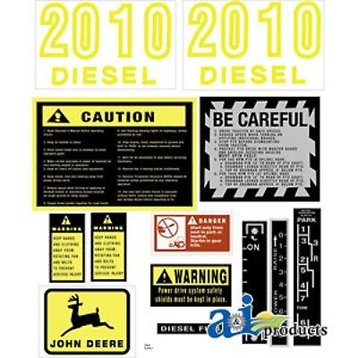 John Deere 2010 Diesel Tractor Decal Set