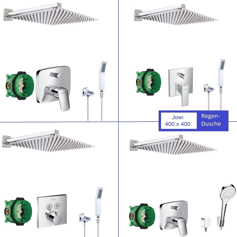 400mm Regendusche, Hansgrohe Logis, Metropol, ShowerSelect Duscharmatur Ibox