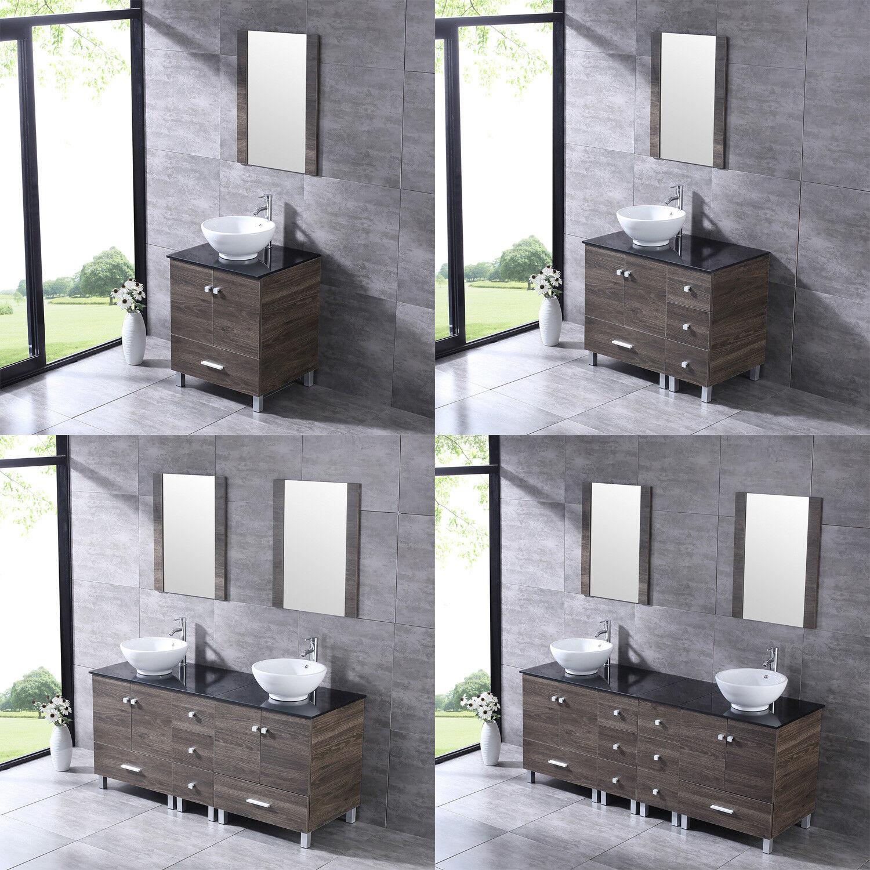 24 Quot 36 Quot 60 Quot 72 Quot Bathroom Vanity Wood Cabinet Ceramic