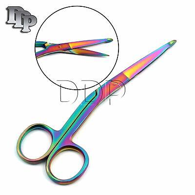 Knowles Bandage Scissors 5.5 Angled Multi Color Rainbow Surgical Instruments