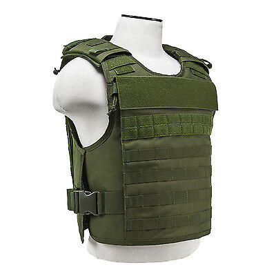 NcStar OD GREEN Plate Carrier External Hard Plate & Internal Soft Plate Pockets