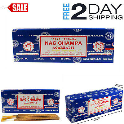 Nag Champa Incense Sticks 250 Grams Satya Baba Box Agarbatti Original 2019 Bulk, used for sale  Bell Gardens