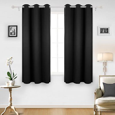 """Thermal Insulated Blackout Grommet Window Curtain for Living Room 42x63"""" 1 Panel"""