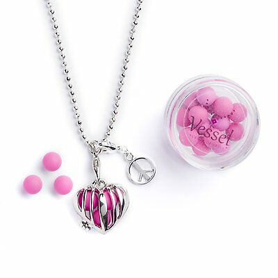 Valentines Day Gift Vessel Aromatherapy Essential Oil Diffuser Necklace Jewel