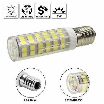 6X E14 7W LED Light Bulb for Kitchen Range Hood Chimmey Fridge Cooker Warm White