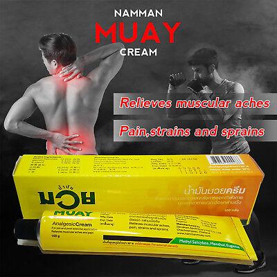 100G Namman Muay Thai Boxing Analgesic Cream Massage Muscle Pain Relief Aches