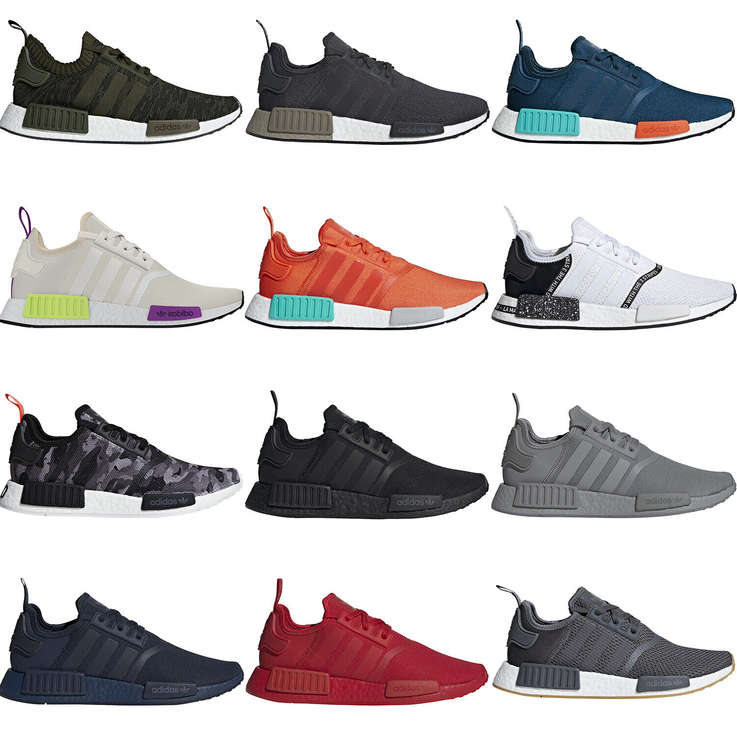 adidas Mens NMD_R1 Shoes Causal Boost 3 Stripes Fashion Sports Running Sneakers