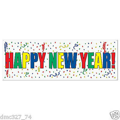 NEW YEAR New Years Eve Party Decoration HAPPY NEW YEAR SIGN BANNER 60