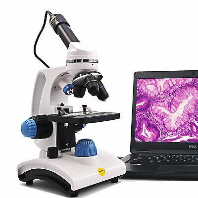 Swift Pro Digital Compound Microscope 1000x Dual Light Student Lab W Usb Camera