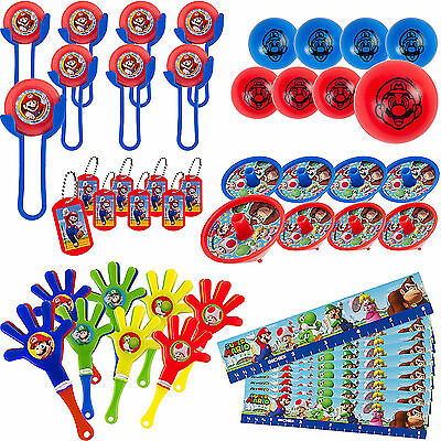 48pcs Super Mario Brothers Mega Mix Favor Pack Birthday Decorations Party Supply (Super Mario Brothers Decorations)