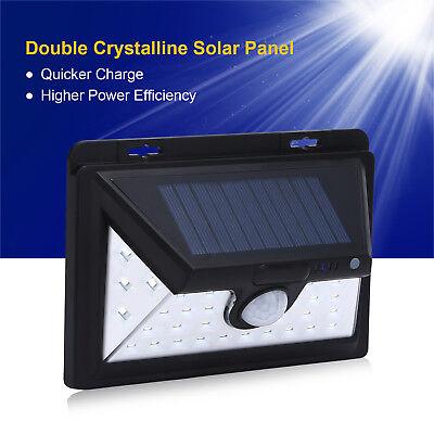 Solar Power Outdoor 34 LED Waterproof Motion Sensor Security Light Home UK SHIP