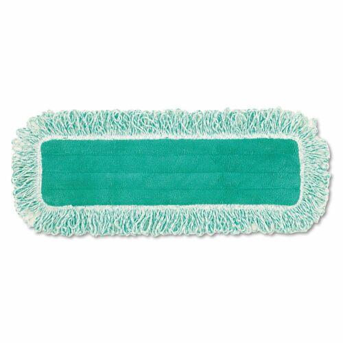 "Rubbermaid Hygen 18"" Microfiber Dust Mop Pad Q418 Green Brand New"