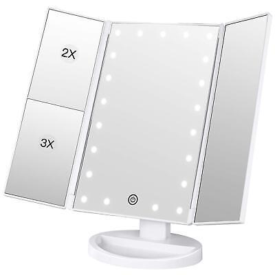 Kosmetikspiegel Schminkspiegel mit LED Beleuchtung 2x/3x