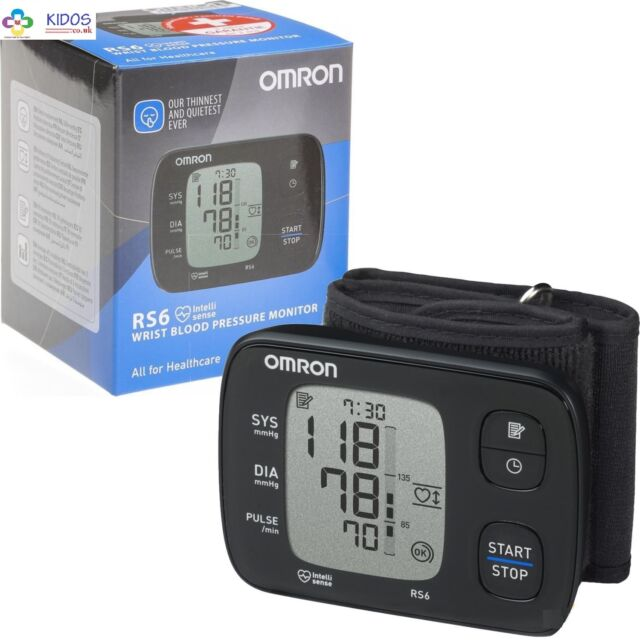 Omron RS6 Automatic Intellisense Digital Silent Wrist Blood Pressure Monitor New